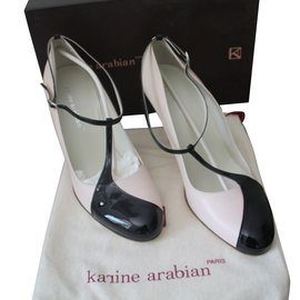 Karine Arabian-Escarpins avec brides-Rose