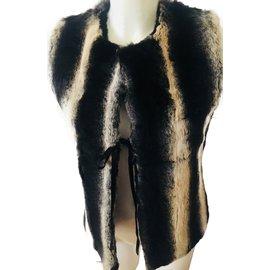Yves Salomon-Jackets-Zebra print