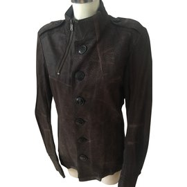 Yves Saint Laurent-Jackets-Dark brown
