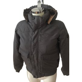 Finger in the nose-Boy Coats Outerwear-Grey