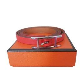 Hermès-Hapi 3 MM leather bracelet-Red