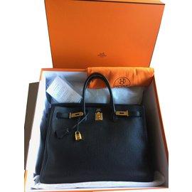 Hermès-Birkin 40 Togo noir, comme neuf-Noir