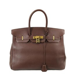 Hermès-Birkin 35-Dark brown
