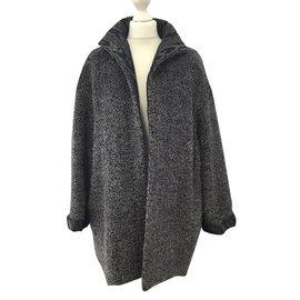 Yves Saint Laurent-Coats, Outerwear-Grey