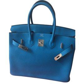 Hermès-Birkin 35-Bleu