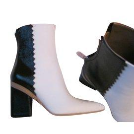 Hermès-Bottines-Noir