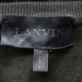 Lanvin-Pulls, Gilets-Noir,Bleu Marine