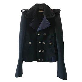 Balenciaga-Veste-Noir,Bleu Marine