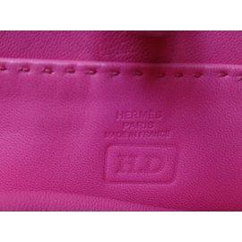 Hermès-CLOU DE SELLE Clutch bags-Pink