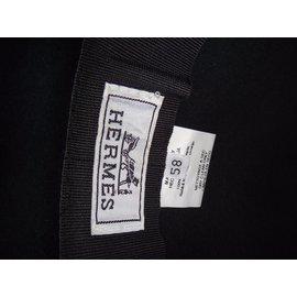 Hermès-chapeau unisex-Gris anthracite