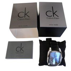 Calvin Klein-Montres à quartz-Noir,Argenté
