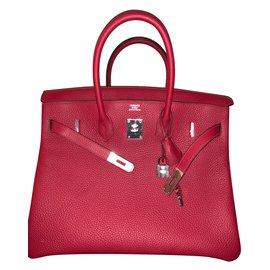 Hermès-Birkin 35-Rot