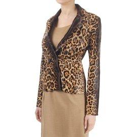 Gucci-Vestes-Imprimé léopard