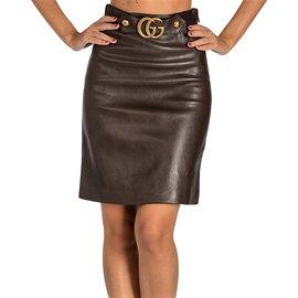Gucci-Tailleur jupe-Marron