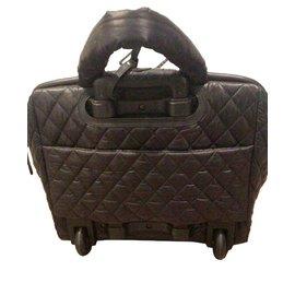 Chanel-Sacs de voyage-Noir