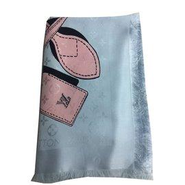 Louis Vuitton-Foulards-Bleu