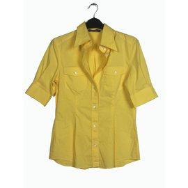 1dd53697817ff9 Dolce   Gabbana-Cotton yellow shirt-Yellow ...
