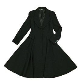 Alexander Mcqueen-Coats, Outerwear-Black