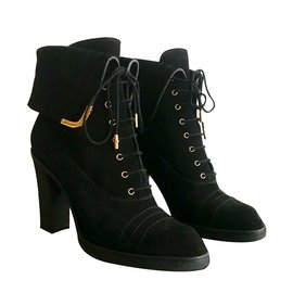 Louis Vuitton-Boots independent lace Louis Vuitton-Noir
