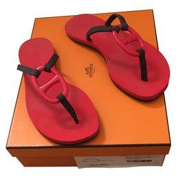 Hermès-Hermès sandales-Rouge