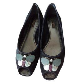 Louis Vuitton-Ballerines open toe-Noir