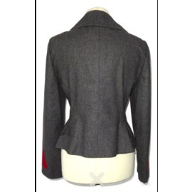 Hermès-Jackets-Red,Grey