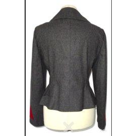 Hermès-Vestes-Rouge,Gris