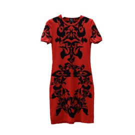 Alexander Mcqueen-Dresses-Black,Red
