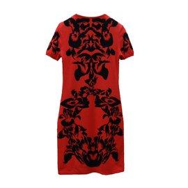 Alexander Mcqueen-Dresses-Black,Red