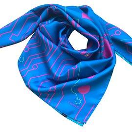 Chanel-Scarves-Blue