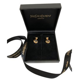 Yves Saint Laurent-Cufflinks-Golden