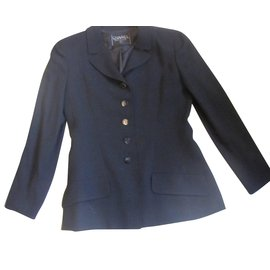 Chanel-tailleur jupe classique-Noir