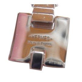 Hermès-Pendentif H-Argenté