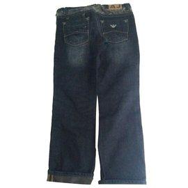 Armani-Pantalons garçon-Bleu,Bleu Marine