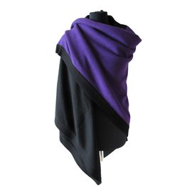 Chanel-Silk scarves-Black,Purple