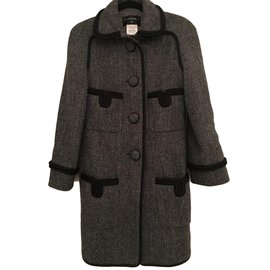 Chanel-Coats, outerwear-Grey