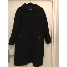 Chanel-Coats, outerwear-Navy blue