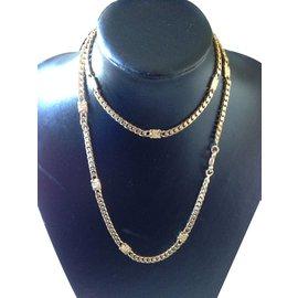 Céline-Long necklaces-Golden