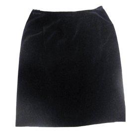 Chanel-jupe courte en velours-Noir