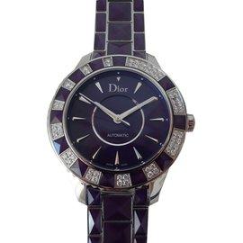 Dior-MONTRE DIOR CHRISTAL AUTOMATIQUE-Violet