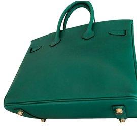 Hermès-Birkin 25-Green