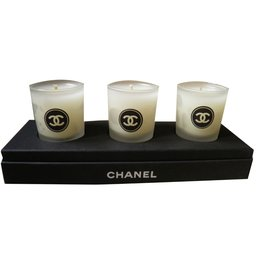 Chanel-Set of 3 Scented Candles-Black