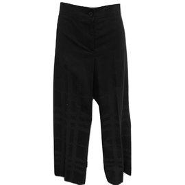 Burberry-Pants, leggings-Black