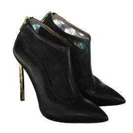 Sam Edelman-Ankle Boots-Black,Golden