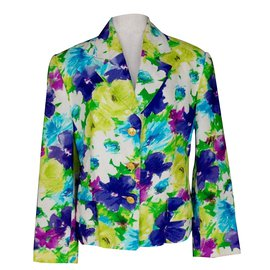Céline-Celine Floral Linen Blazer Jacket-Multiple colors