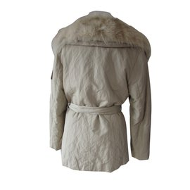 Yves Salomon-Coats, Outerwear-Cream