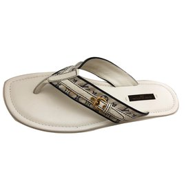 Louis Vuitton-Sandals-Eggshell