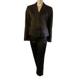 Moschino-Ensemble veste pantalon Moschino jeans-Noir