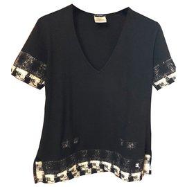 Chanel-Pulls, Gilets-Noir
