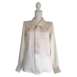 Yves Saint Laurent-YVES SAINT LAURENT  Blouse-Blanc